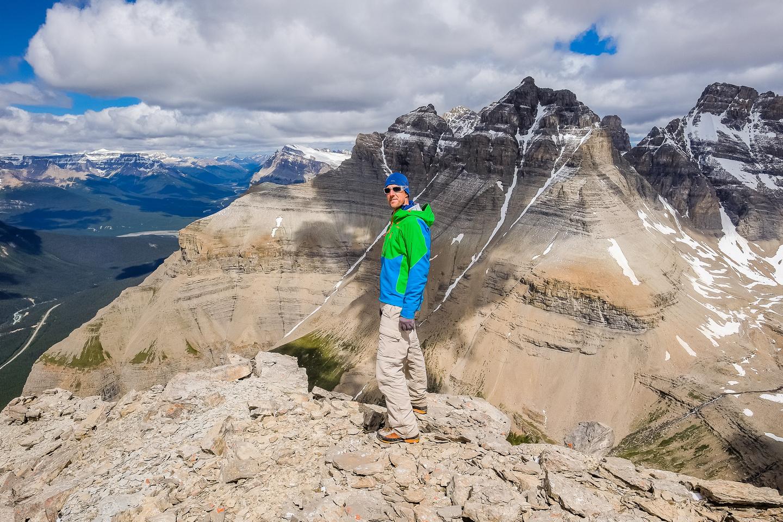 Vern on the summit of Bison Peak (MU1).