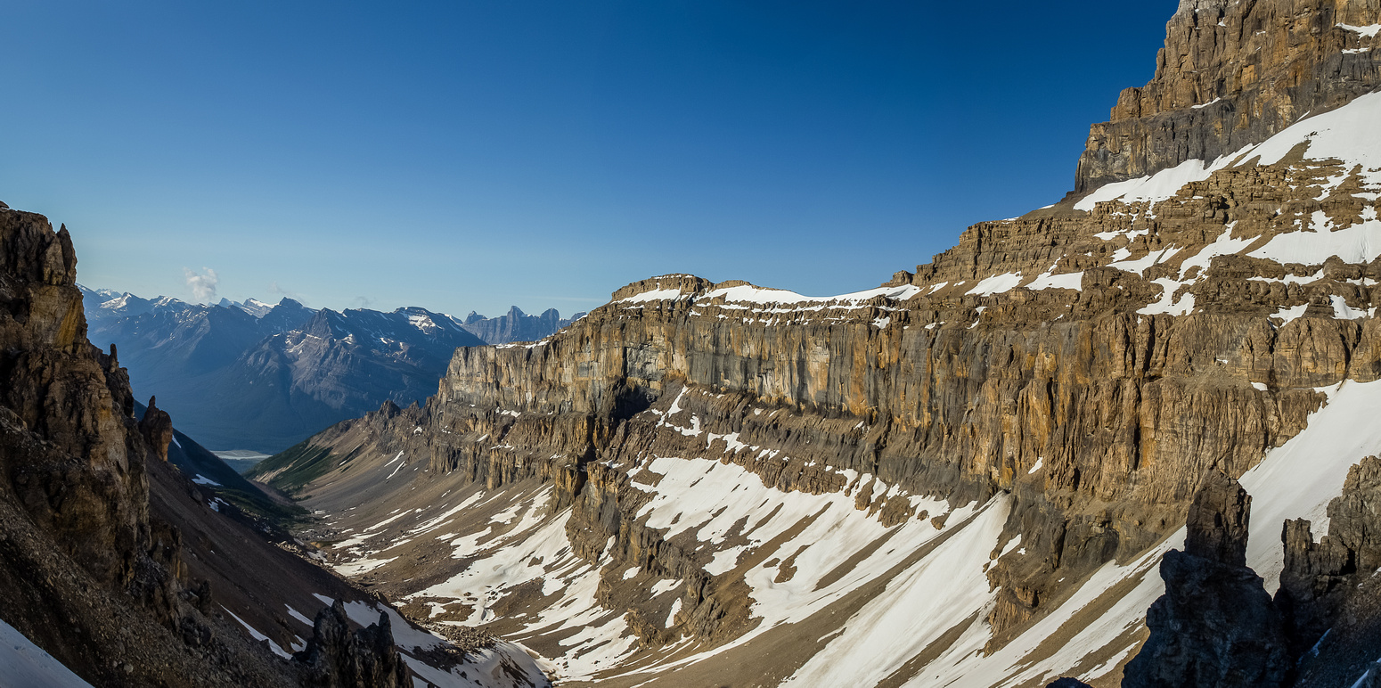 Incredible views from near the col of Cline and it's nice south ridge.