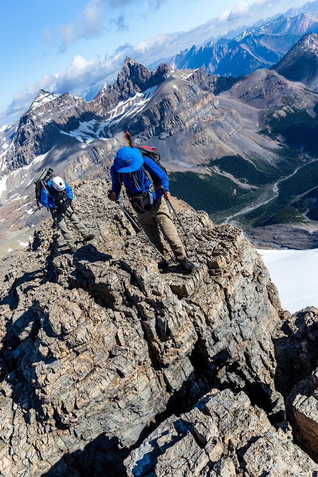 The ridge has some mild exposure if you go straight up it - which you should!
