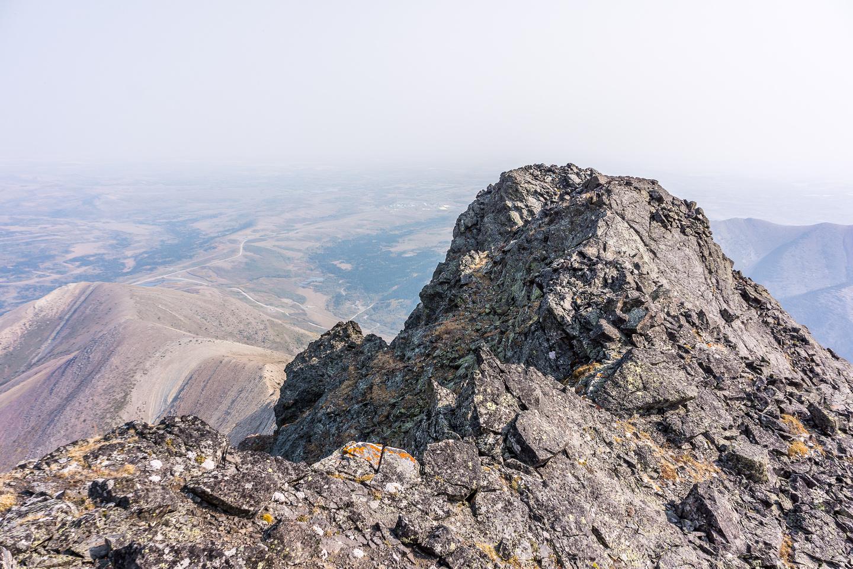 The summit of Pincher Ridge.