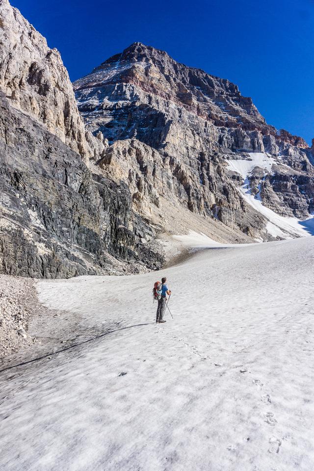 Ascending the Sturdee Glacier.