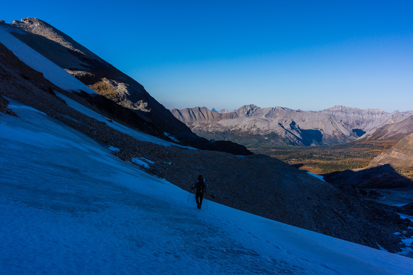 Approaching the Hind Hut.