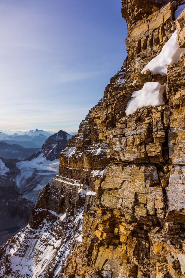 The spectacular east face of Assiniboine as seen from the NE ridge.
