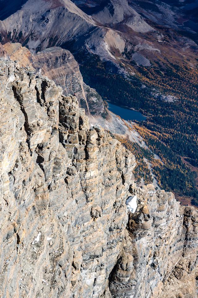 Spot Kev on the north ridge.