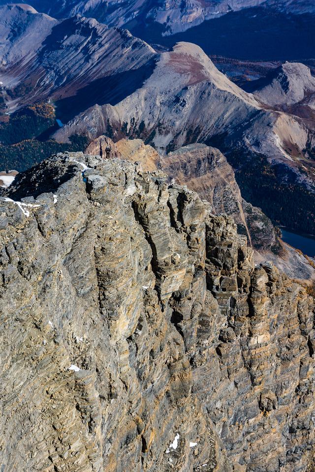 Kev comes up the summit ridge.
