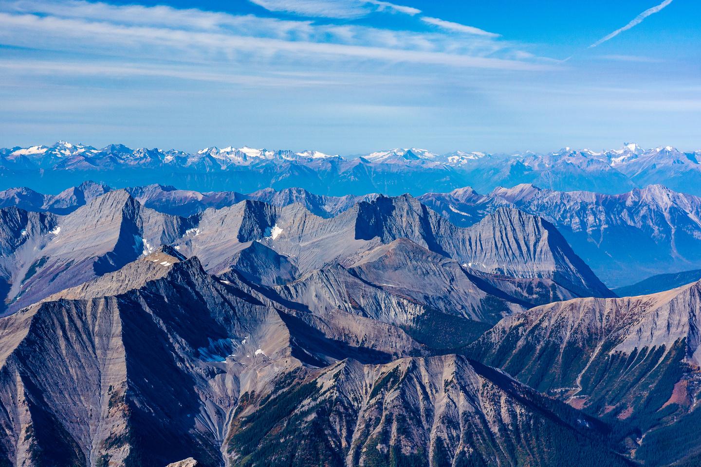 The Mitchell Range includes Mount Harkin, Doer, Selkirk and Split