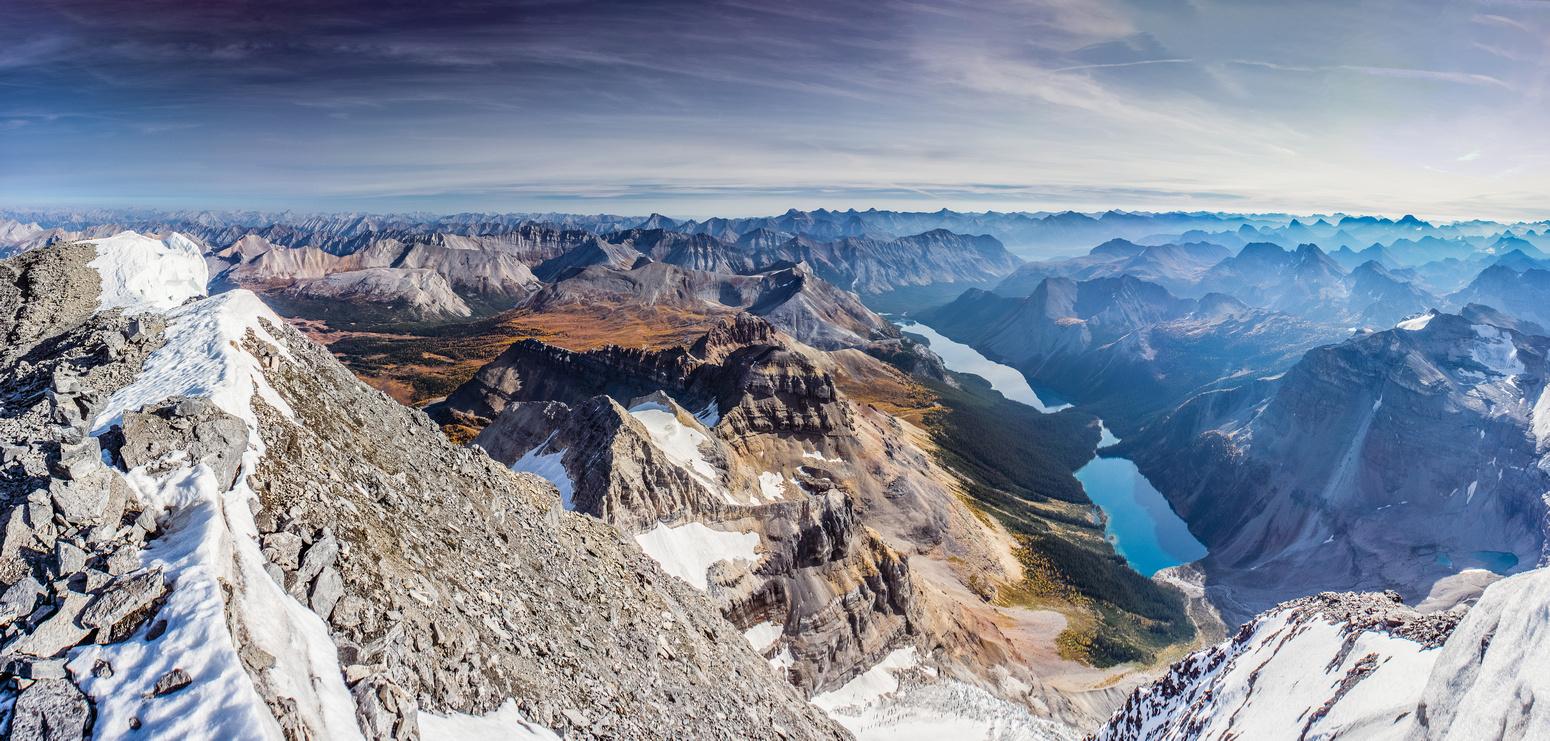 Amazing summit view over Wonder Pass, Marvel and Gloria Lakes.