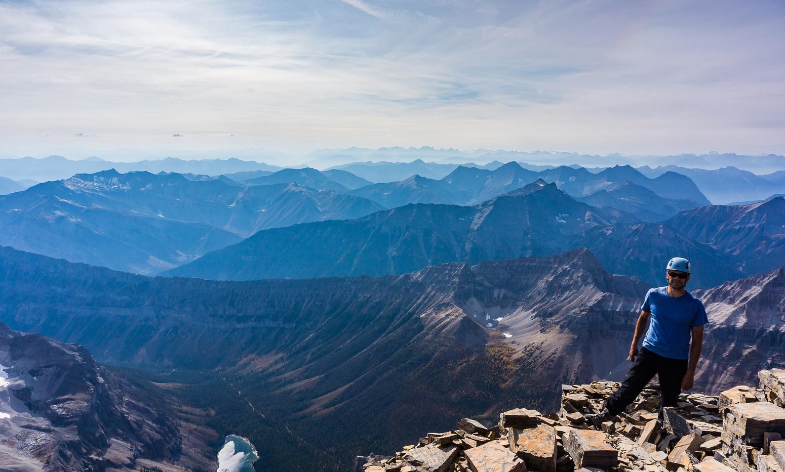 Kev on the summit of Lunette Peak.