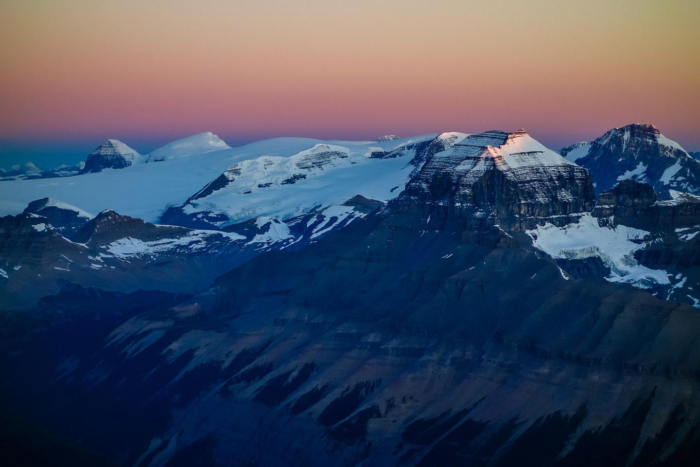 Mount Saskatchewan at sunrise.