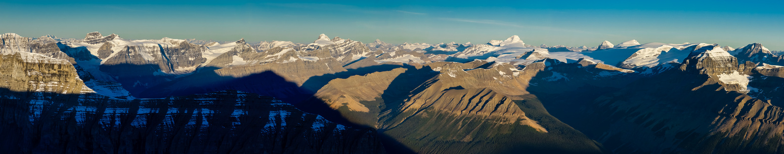 The sun is now officially up and if you expand this pano you will count a TON of 11,000ers!