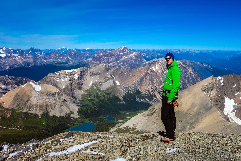 Vern on the summit of Mount Fryatt!