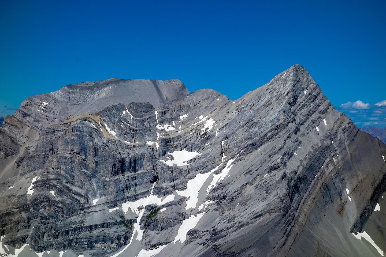 Wind Mountain with Lougheed II rising behind.