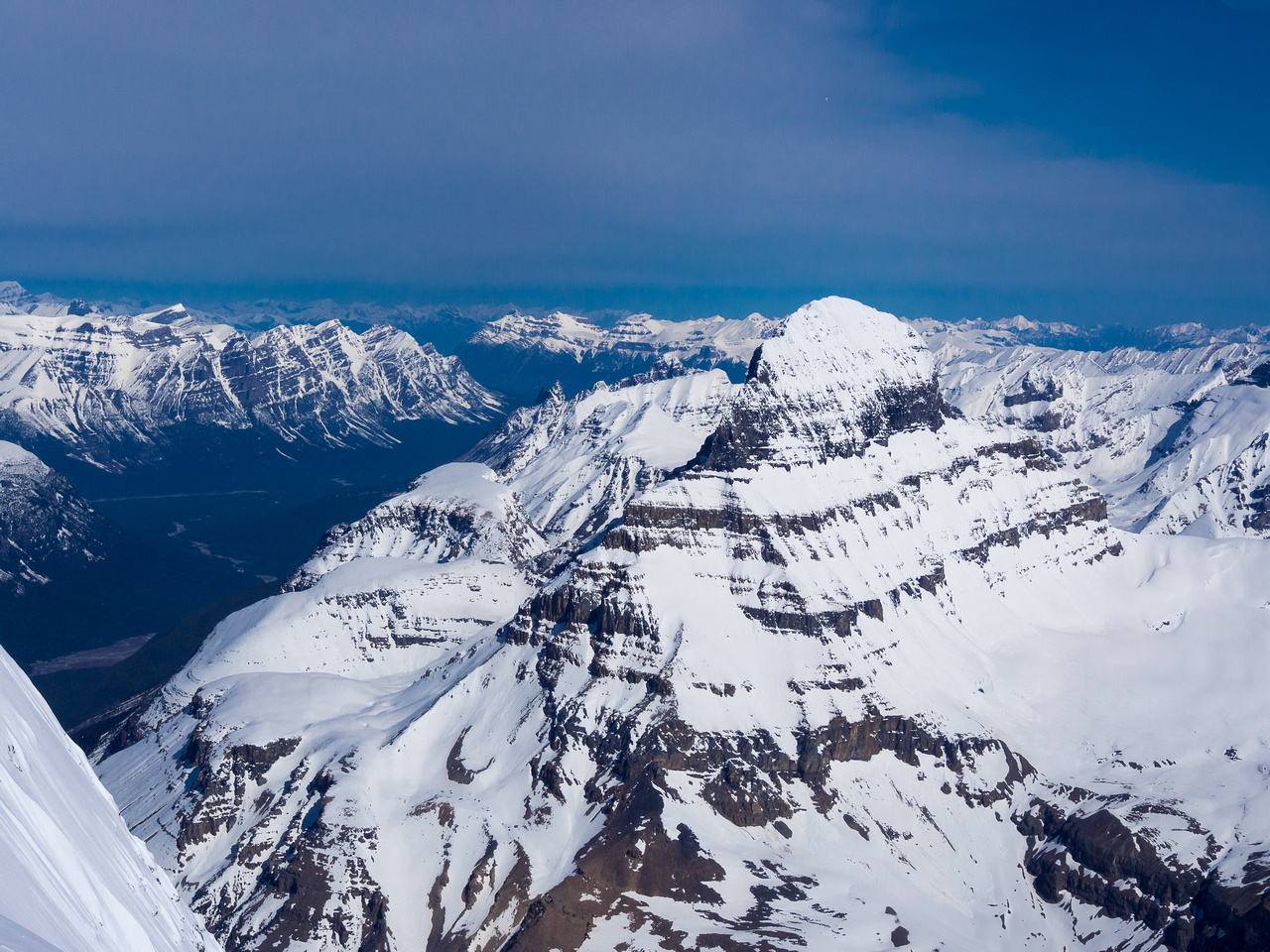 Mount Alberta is almost as high as North Twin.