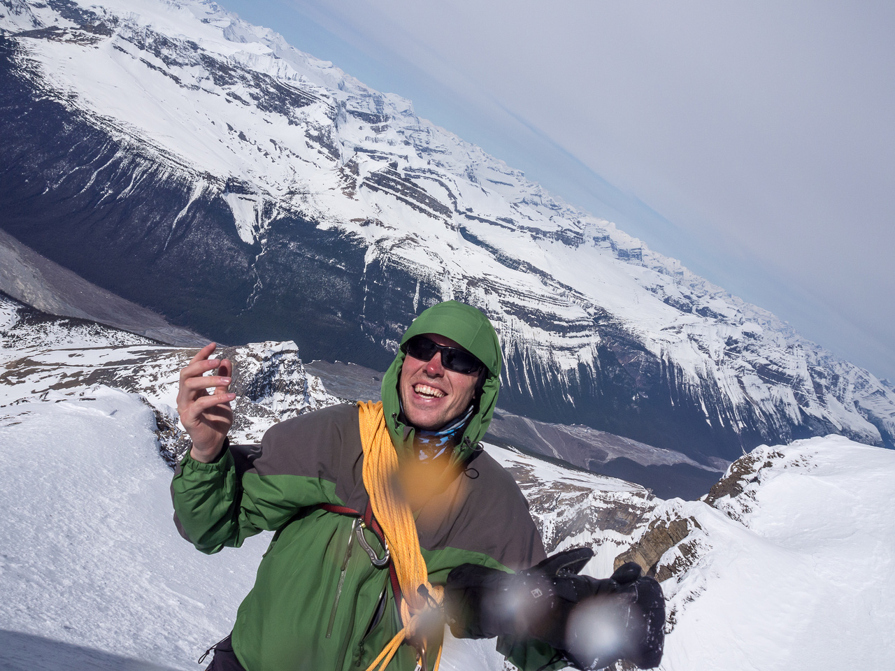 JW on the summit of Twins Tower - obviously quite pleased with himself!