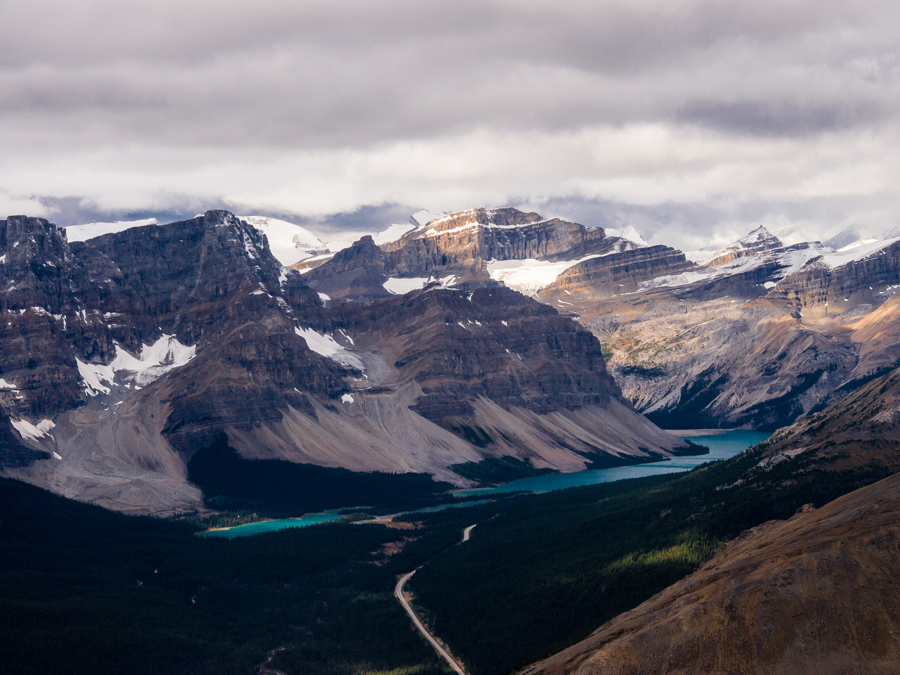 Bow Lake and Hwy #93.