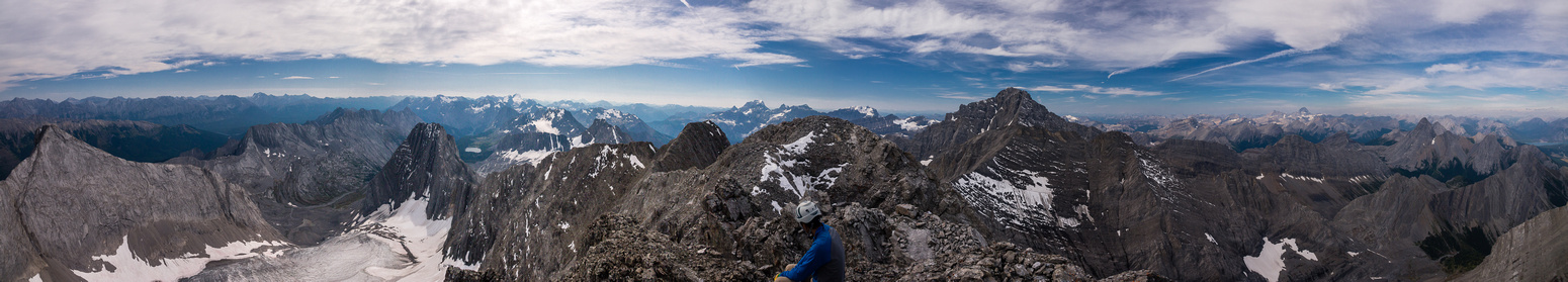 Summit views East, South and West from Smith Dorrien to Jellico, Joffre, King George and Sir Douglas