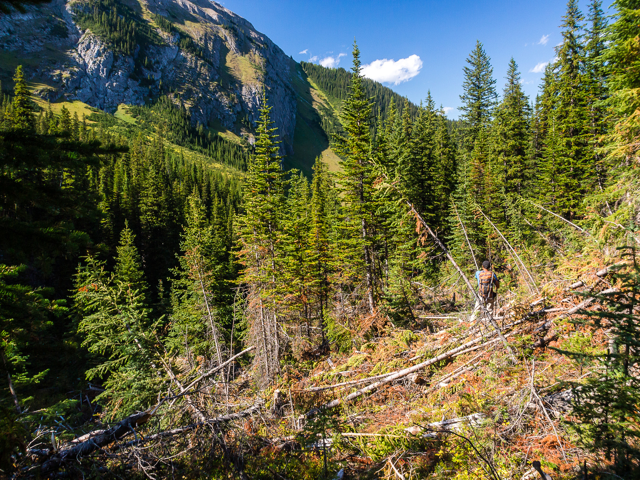 Dealing with avalanche debris on the return trail
