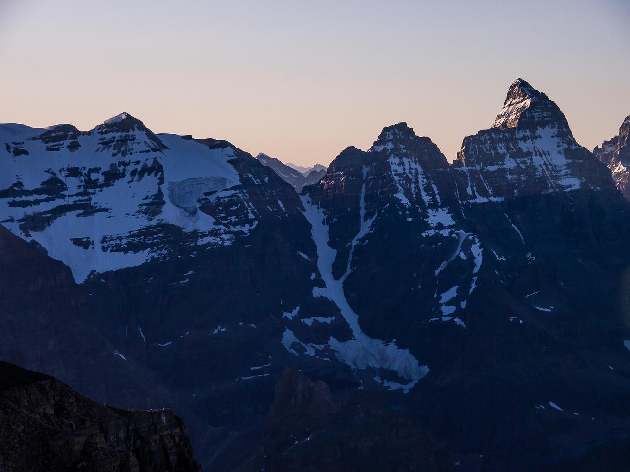 Glacier Peak, Mount Ringrose and Hungabee Mountain.