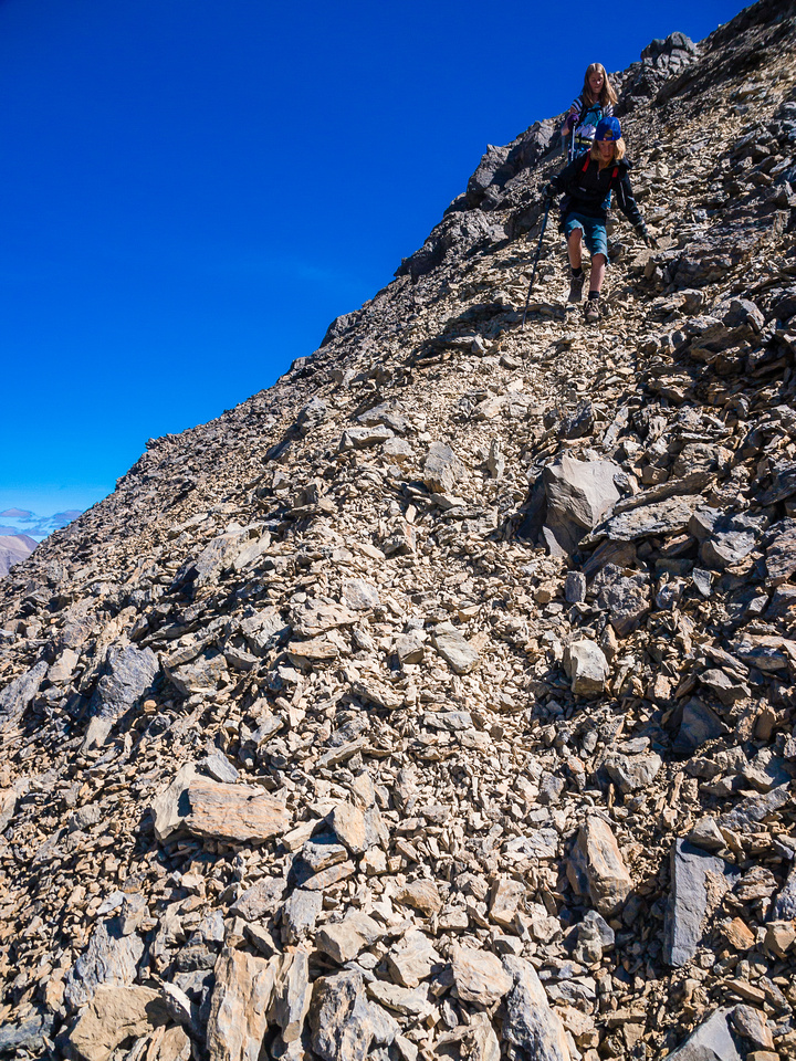 More loose terrain - hikers may not be comfortable here.