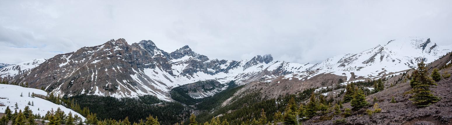 Puzzle Peak, Watermelon and Quartzite Peak (L to R).