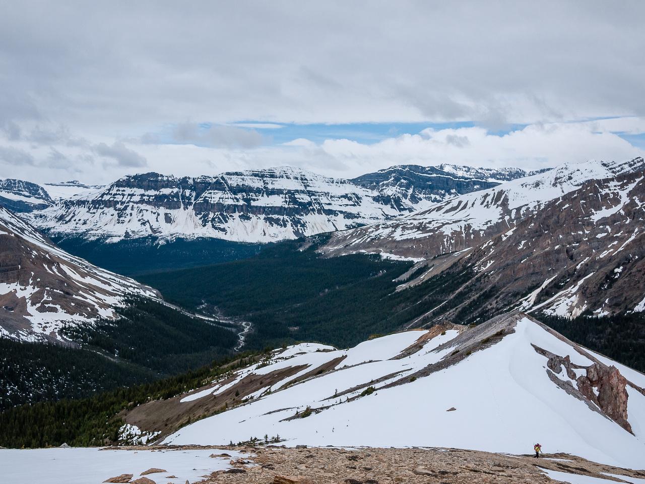 Looking back at Kev coming up the ridge.