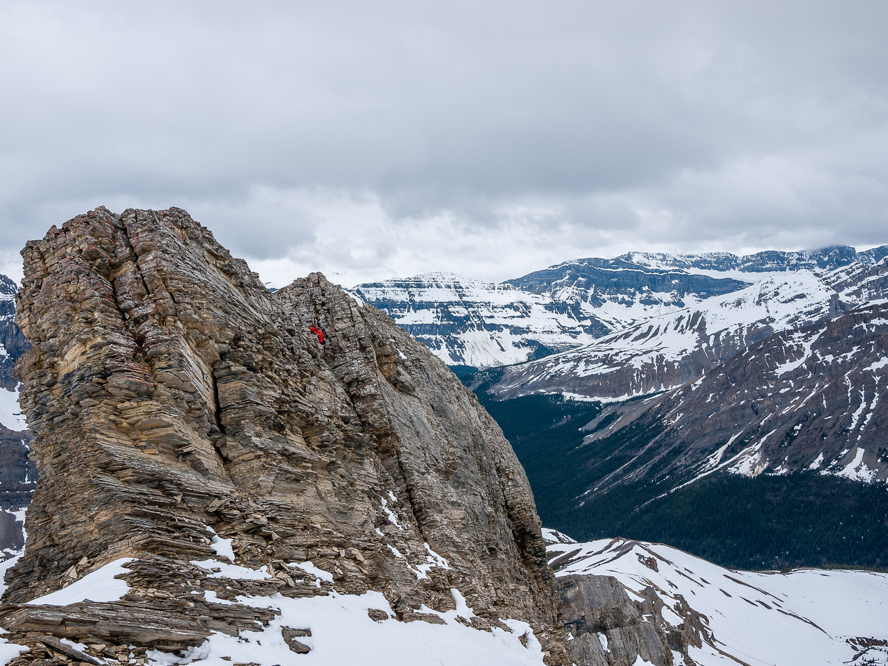 Looking back at the moderate crux.