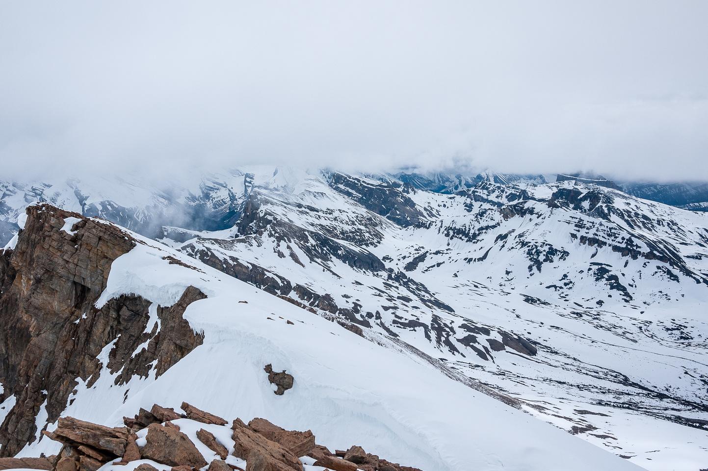 Views towards North Molar Pass and Molarstone Peak.