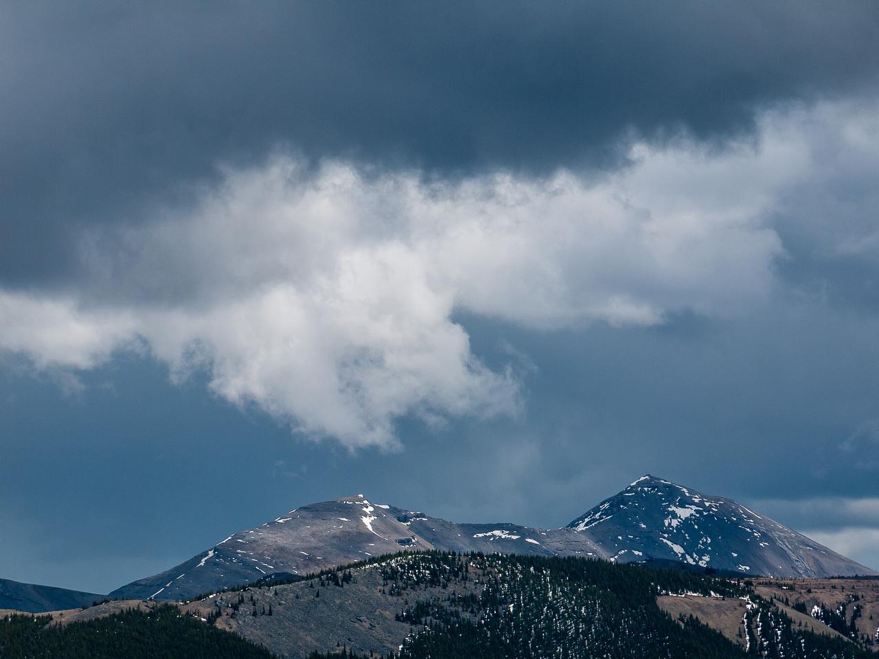 Menacing clouds.