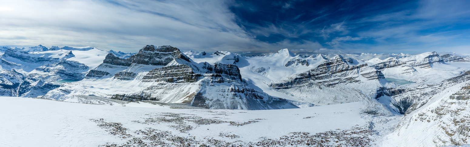 Views west to the Wapta Icefield.
