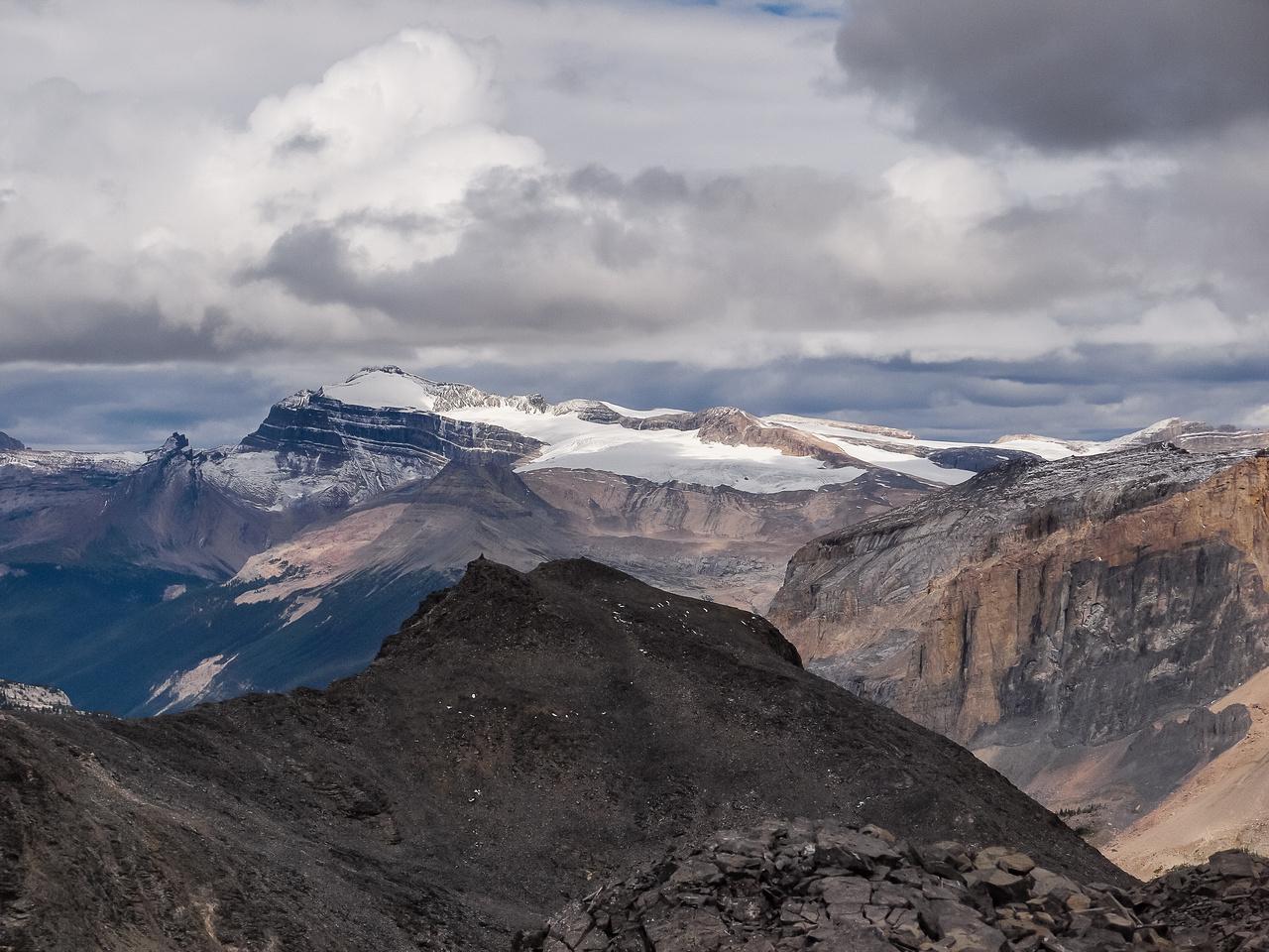 Mount Balfour rises over Walcott Peak.