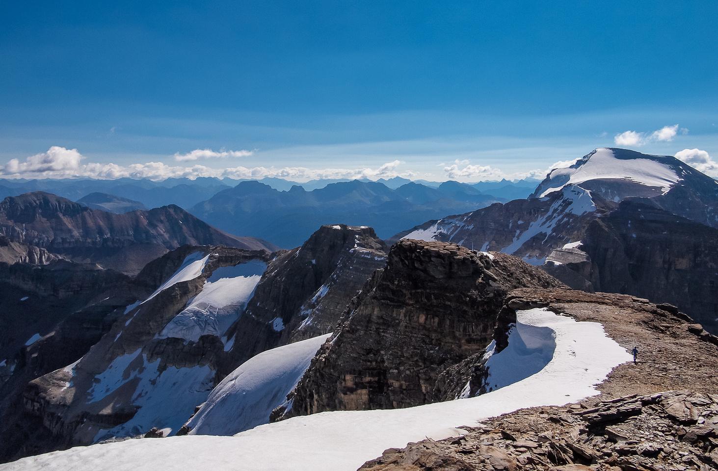 Gorgeous summit views towards Ball.