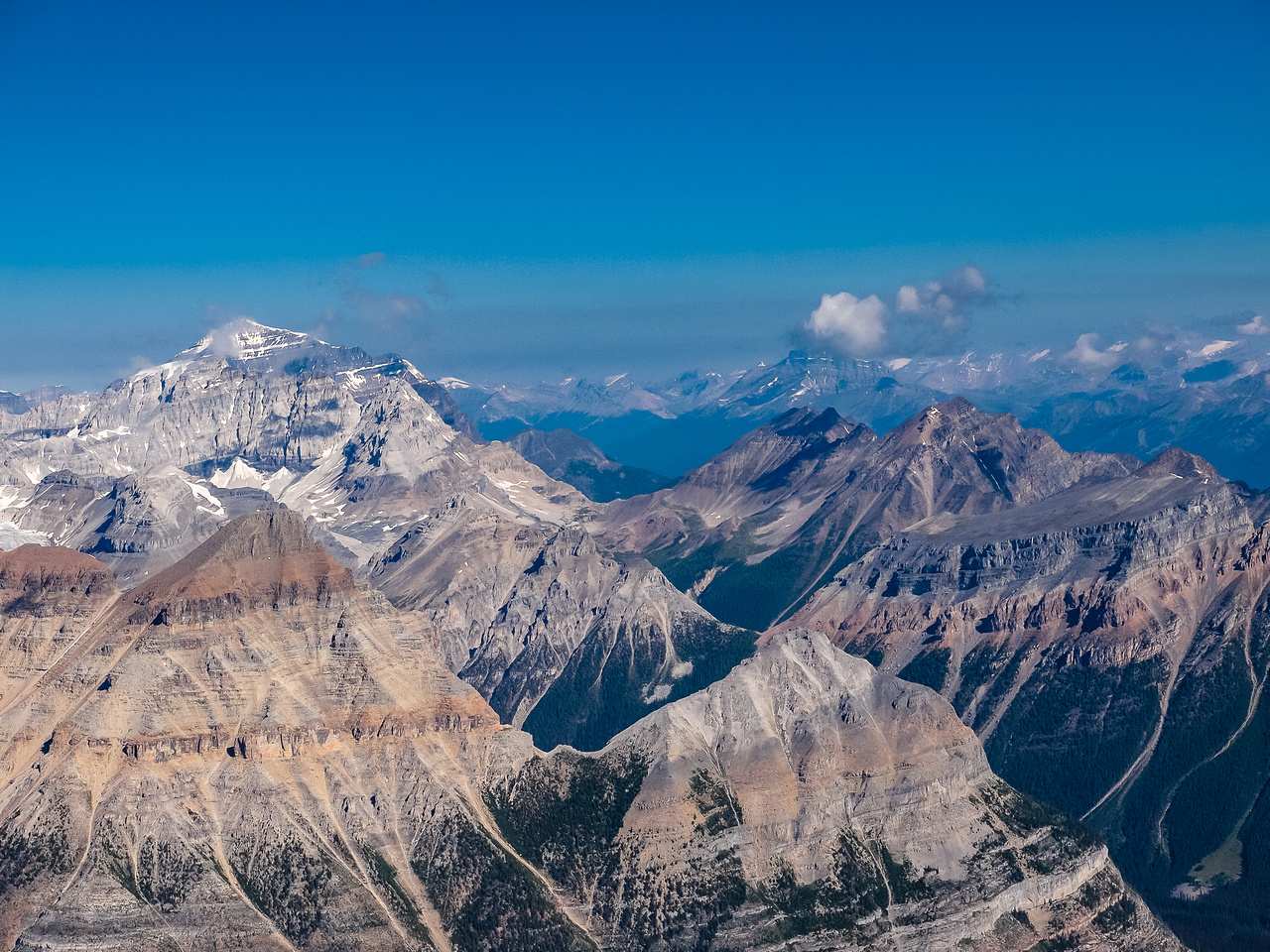 Temple, Whymper, Hector, Panorama Ridge and Boom Mountain.