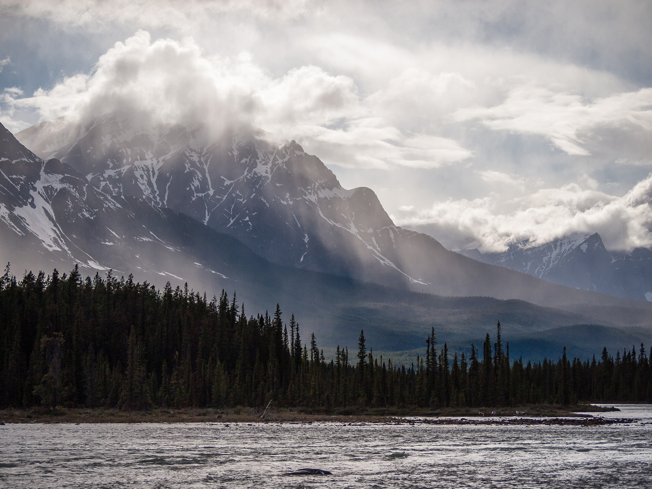 Dramatic views from my drive up Hwy #93 to Jasper.