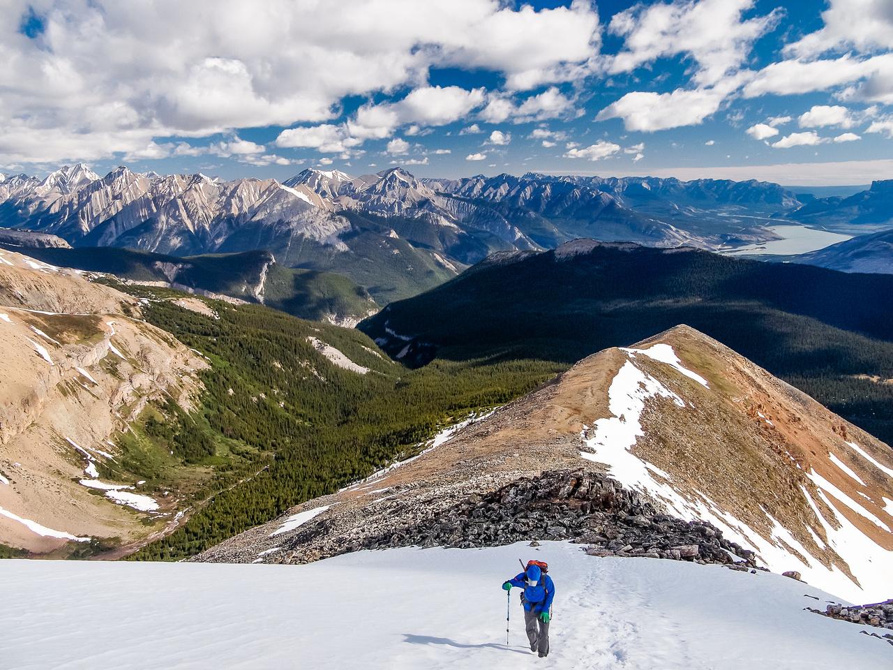 Some steep snow on the ridge.
