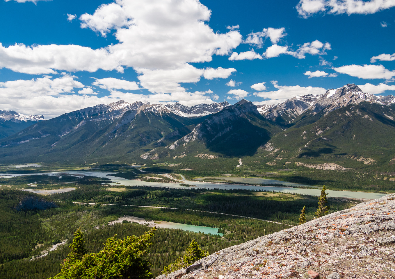 Looking back over Jacques Creek and the Athabasca River.