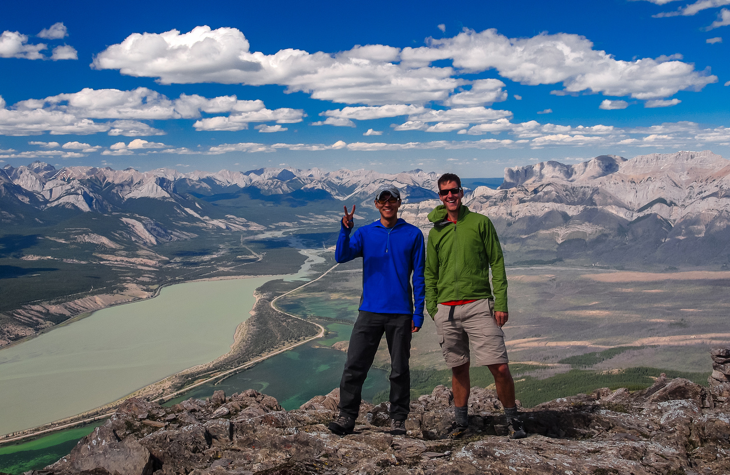 Vern and So on the summit of Cinquefoil Mountain.