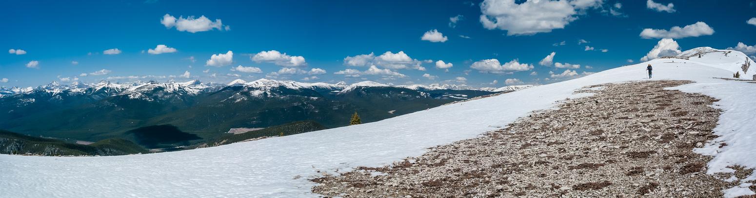 Wietse nears the summit of Coffin.