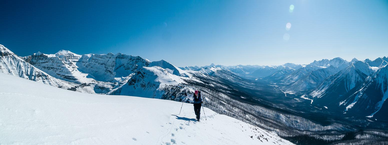 Scott on the south ridge.