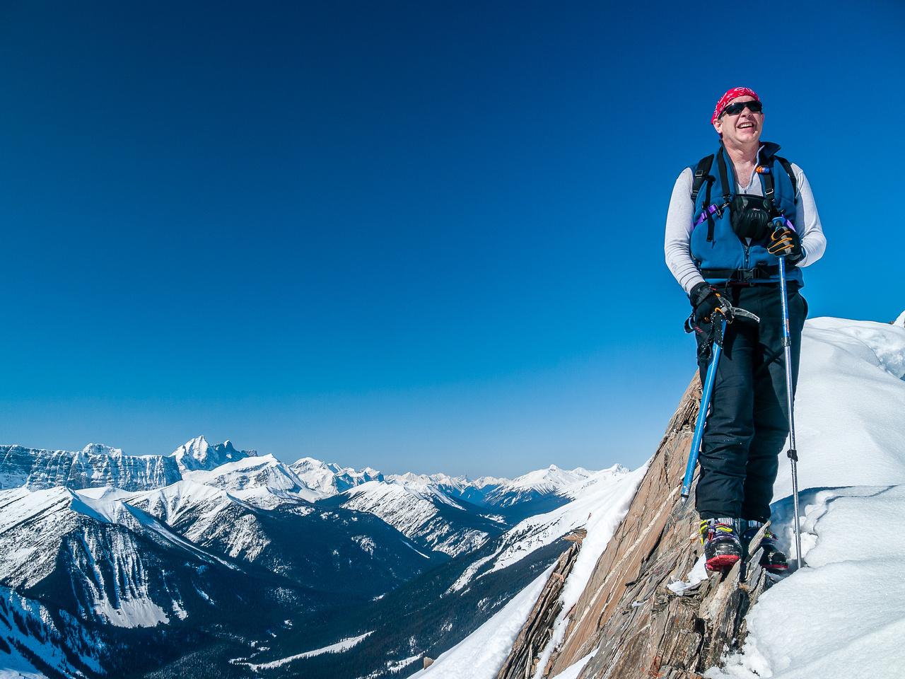 Scott on the summit ridge.