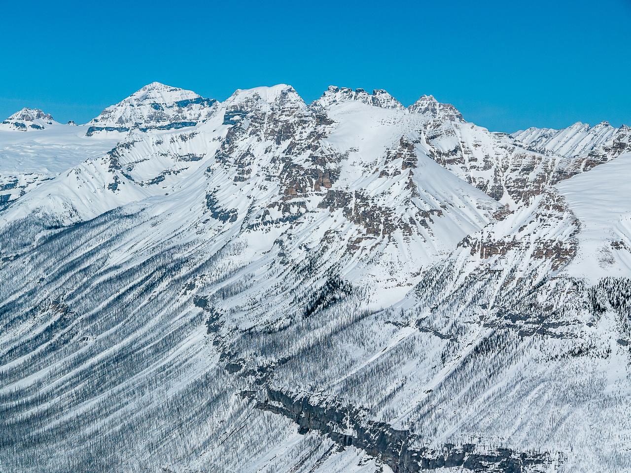 Chickadee Peak in front of Quadra.