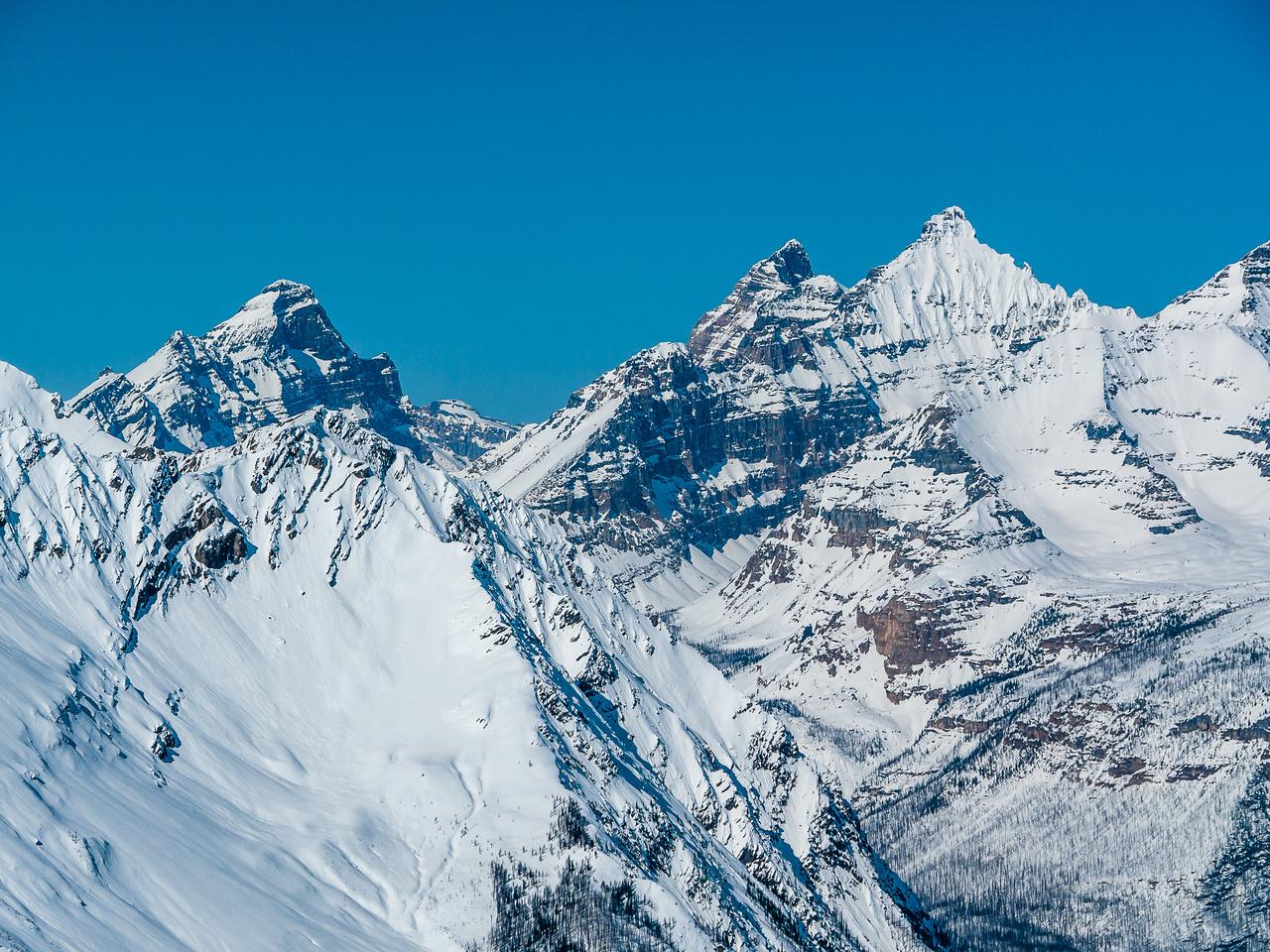 Mount Biddle, Hungabee and Deltaform.