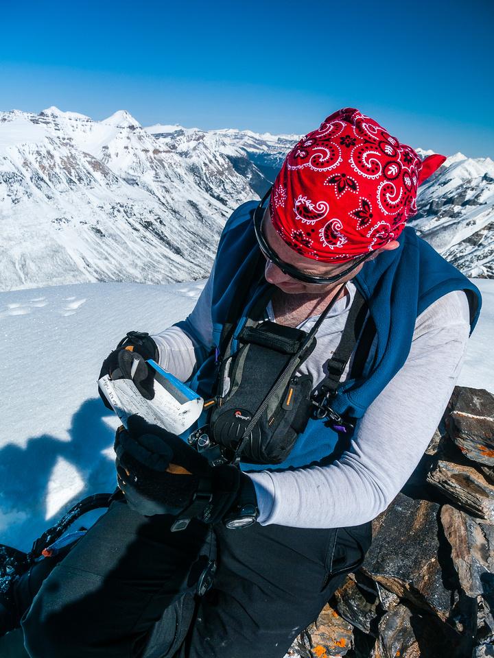 Scott at the summit.