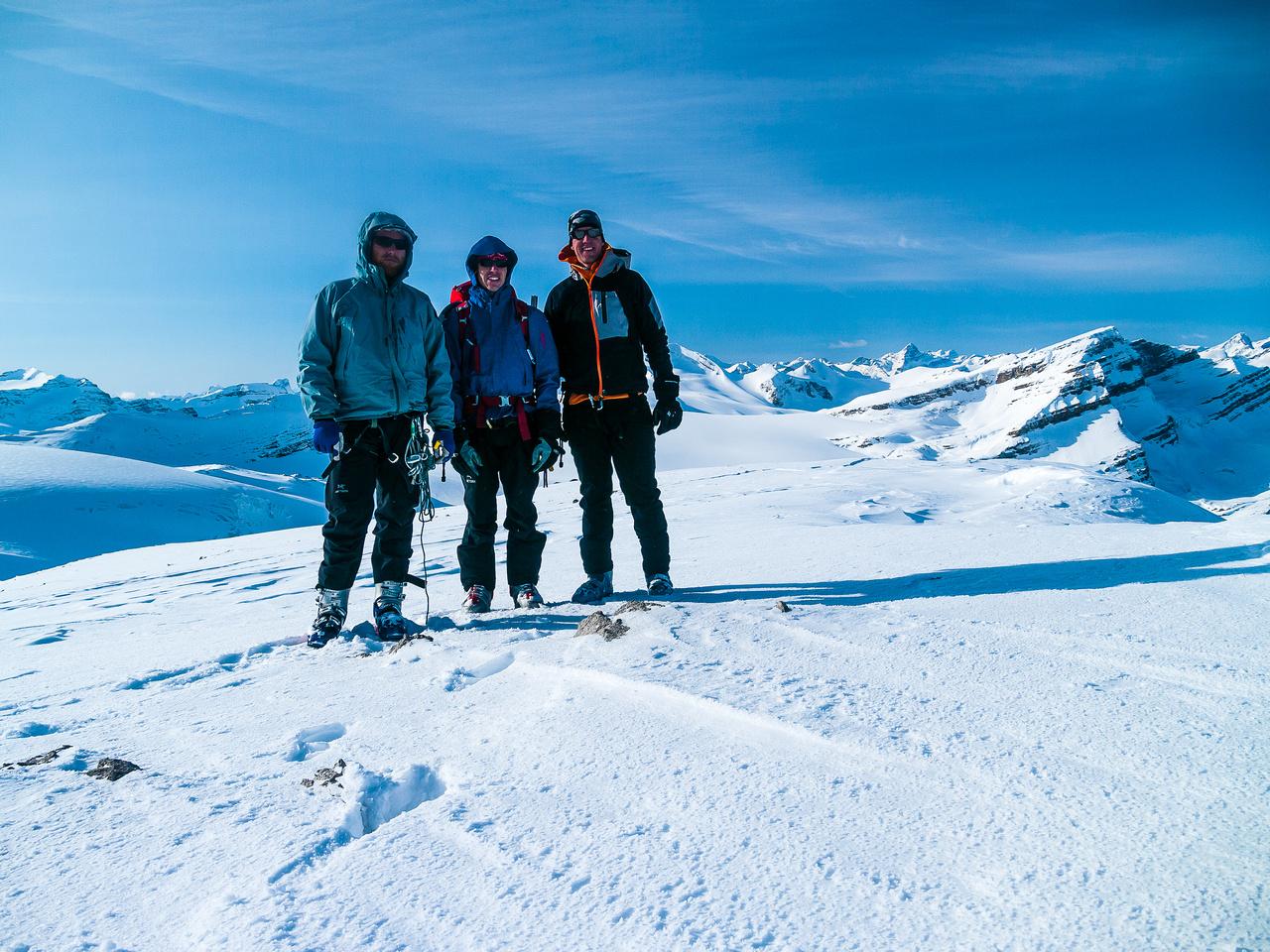 Ben, TJ and Vern on the summit of Vulture Peak.