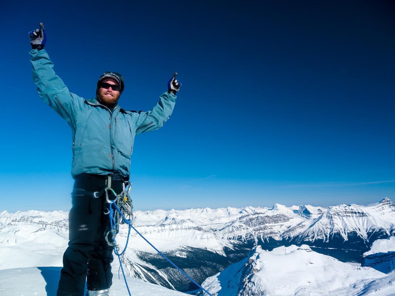 Ben on the summit of Mount Balfour.