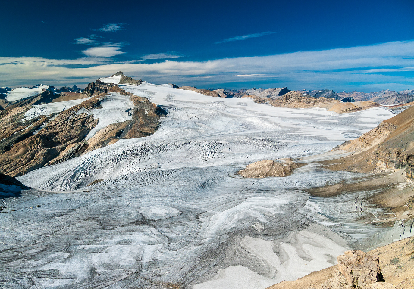 The Waputik Icefield and Mount Balfour.