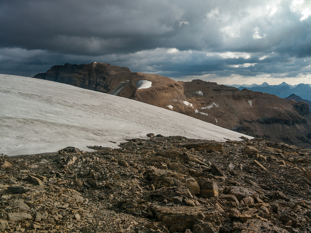 My legs get tired looking at the long summit ridge of Mount Daly that we were on the day before! ;)
