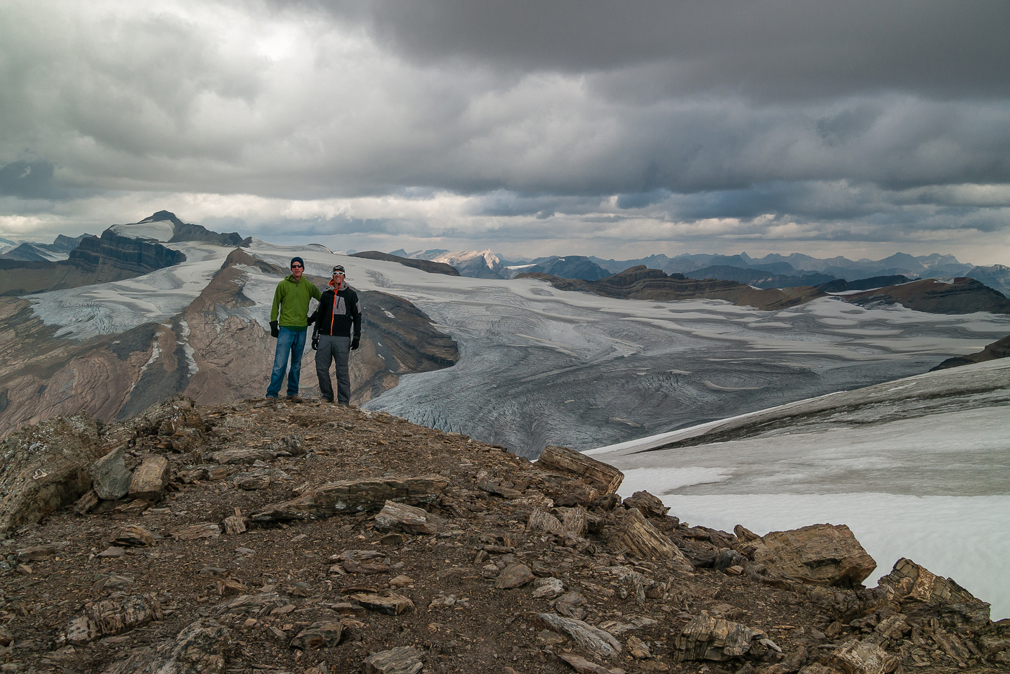 Rod and Vern on the summit.