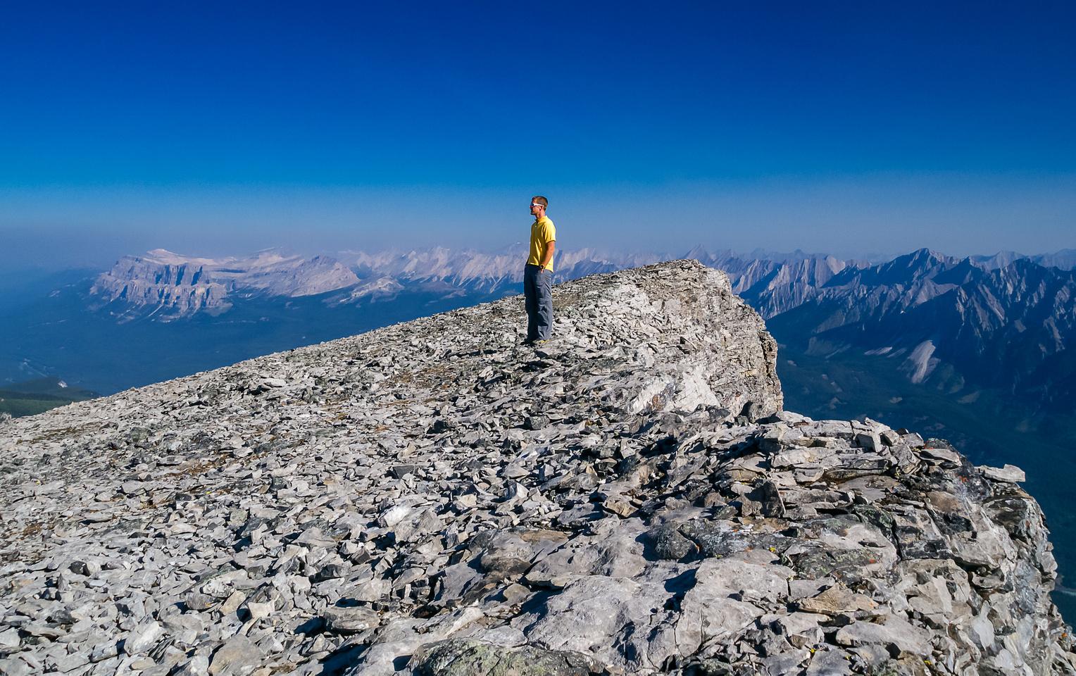 Vern on the summit of Pilot Mountain.