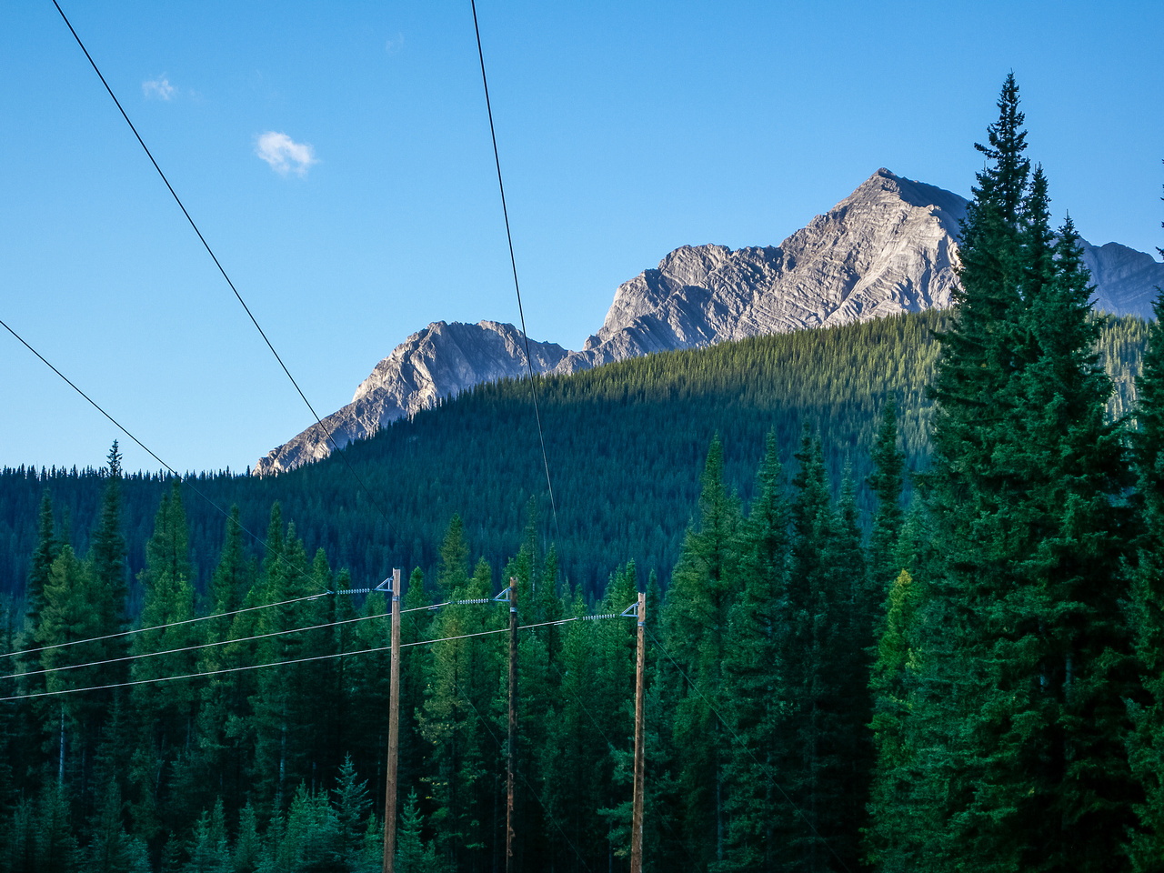 First views of Mount Fox from the Fox Creek approach trail.