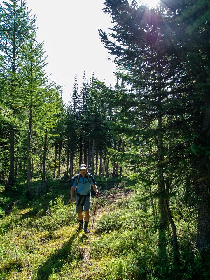 Approaching the NE ridge.